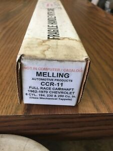 Melling Ccs11 Race Camshaft Chevrolet 1962 76 194 230 250 6 Cyl Car And Truck