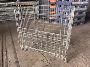 38 X 48 X 40 Collapsible Wire Baskets Used