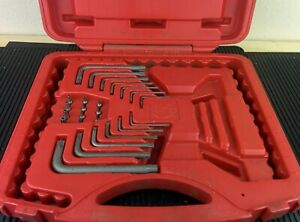 Ah759 Mac Tools Torx Set Case W Torx Allen Wrenches Tamper Proof Torx Bits