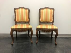 Baker French Country Style Dining Side Chairs Pair 4