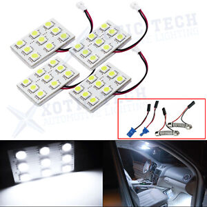 4x 6000k White Map Dome Trunk Interior Lights 9 Led Panels For Nissan Infiniti