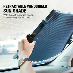 Auto Shade Car Retractable Curtain Uv Protection Front Windshield Sun Visor usa