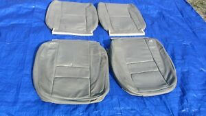 94 97 Volvo 960 Oem Light Gray Leather Driver Passenger Seat Covers Set Of 4