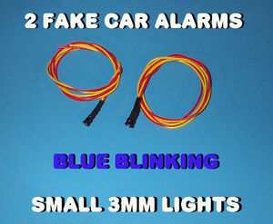 Fake Car Alarm Led Light 3mm Blue Flashing 12v 24v Blink Blinking Flash