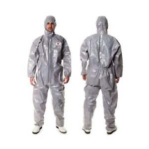 3m 4570 Gray Hooded Protective Coverall High performance Chemical Hazmat Suit2xl