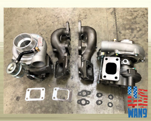 Gt25 Twin Turbocharger Manifold For 90 96 Nissan 300zx Z32 Vg30dett Z