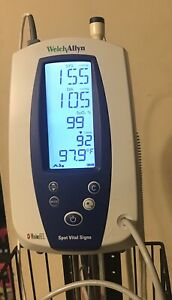 Welch Allyn 42mtb Spot Vital Signs Masimo Set Spo2 Nibp And Temp On Stand