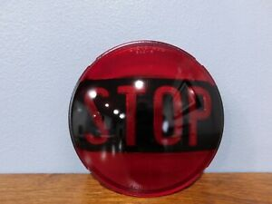 Vintage Dietz 474 Red Glass Car Bus Stop Light Lens