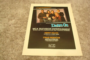 DREAM ON 1995 Emmy ad Denny Dillon for Best Actress Brian Benben Wendie Malick $6.98