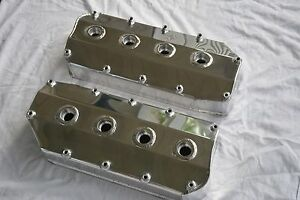 1966 71 Polished Fabricated Aluminum 426 Hemi Valve Covers Mopar Plymouth Dodge