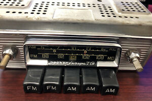 Vintage Becker Europa Tg Car Radio Untested no Knobs