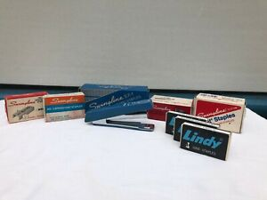 Lot Of Vintage Mini Lindy Stapler With A Variety Of Staples