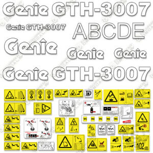 Genie Gth3007 Decal Kit Telescopic Forklift 7 Year 3m Vinyl