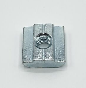 M 8 Sliding T Nut Block 8 Mm Slot 3030 Extrusion Zinc Plated Steel Lot Of 25