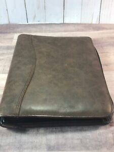 Day timer Brown Faux Leather Zip Up Binder Planner