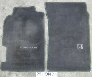 1997 2001 Honda Prelude Optional Checkered Floor Mats Oem Rare Black Bb5 Bb9 H22