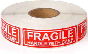 Fragile 1 x3 Handle With Care Shipping Stickers 1000 Labels Per Roll