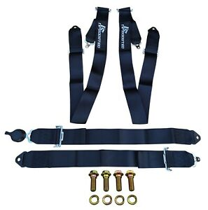 3 Wide Straps Universal 4 Point Camlock Quick Release Race Seat Belt Harness