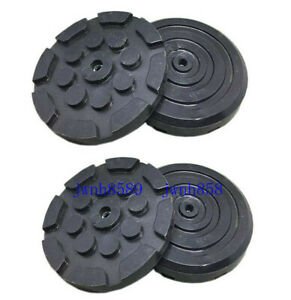 4pc Round Heavy Duty Car Truck Post Lift Arm Pads Pinch Rubber Repair Tools New