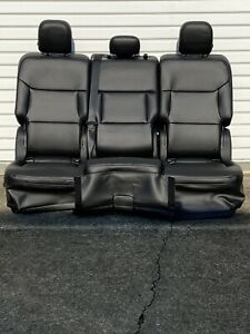 2020 Ford Explorer Second Row Folding 3 Piece Bench Seats In Black