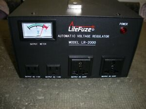 Litefuze Automatic Voltage Regulator Lr 2000 220v 110v