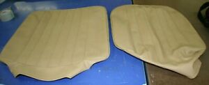 1968 1973 Vw Bus Basket Weave Saddle Vinyl Seat Bottom Covers 2 Bottoms Only