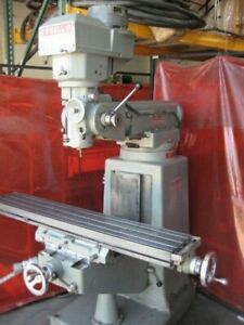 Excello Ram Turret Vertical Milling Machine 602 W r8 Spindle 9 x48 Table
