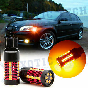 3000k 7440 Amber Led Turn Signal Light Bulbs Anti Hyper Flash Canbus Error Free