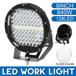9 Inch 640w 128led Round Work Light Spotlight Offroad Driving Offroad Suv Atv