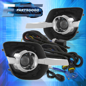 For 10 16 Chevrolet Equinox Front Bumper Driving Clear Fog Lights Lamps W Bulbs