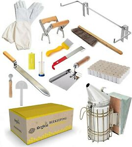 Deluxe Beekeeping Starter Kit 15pcs Beehive Kit All Tools Included Bee Equipment