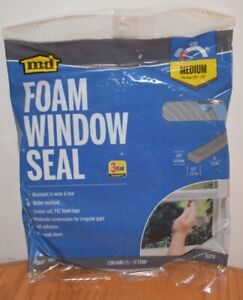 Md Foam Window Seall Medium 1 4 X 1 2 X 17 Gray 02279 New