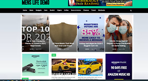 Mens Life Magazine Website guides Affiliate Product Website 100 Automated