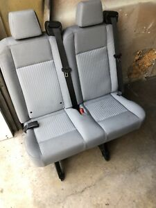 Ford Transit Seat Grey Cloth 36 Dual Pass Hardware Rails Freight Available