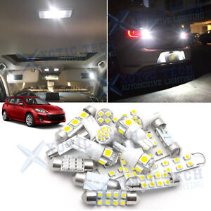White Led Interior Reverse Light Package Kit For Mazda 3 2010 2013 Mazda3 Sport