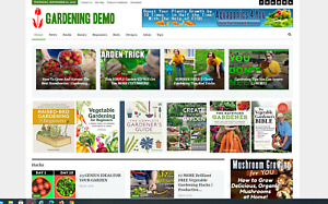 Gardening Guides Tips Affiliate Product Website 100 Automated Content