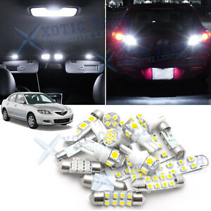 White Led Interior Reverse Light Package Kit For Mazda 3 2004 2009 Mazda3 Sport