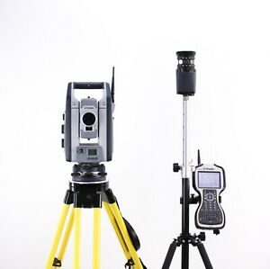 Trimble S9 1 Dr Hp Robotic Total Station Kit W Tsc3 Data Collector Access