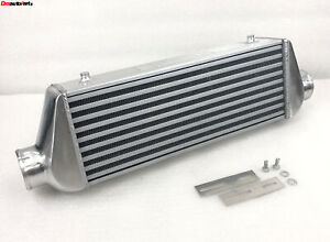 Universal Tube Fin Intercooler 3 I O Overall Size 27 X9 X4 Fit Honda Civic Crx