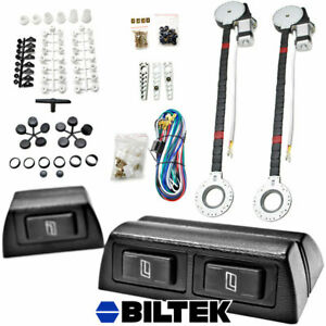 2 Window Roll Up Conversion Power Electric Universal Kit W 3 Swithches Car Auto