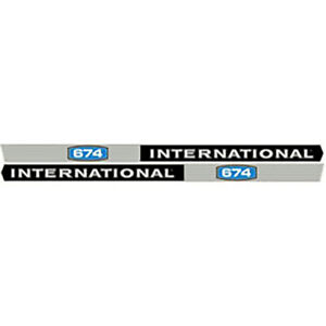 S 67754 Decal Fits Case Ih International Harvester Ih 674 Fits Case Ih
