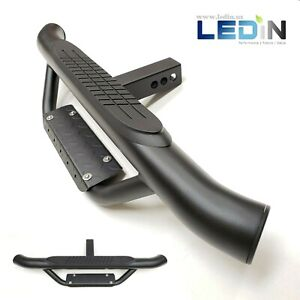 For 2 Receiver Truck Heavy Duty Steel Tow Hitch Step Bar Guard Black Drop Step