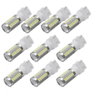 10x 3157 3156 5730 33 Smd White Led Daytime Running Tail Brake Stop Light Bulbs