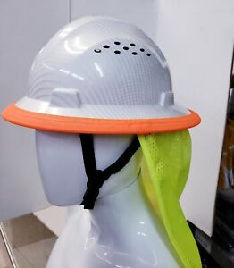 Hyrdro Dipped Hard Hat With Free Neck Shade neck Shield