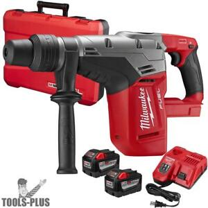 Milwaukee 2717 22hd M18 Fuel 1 9 16 Sds Max Hammer Drill Kit 2x 9 0ah Batts New