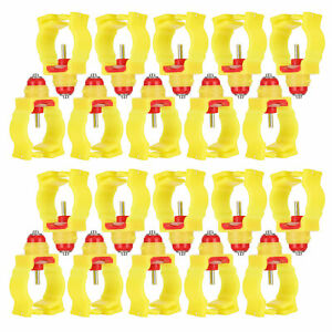 20pcs Chicken Automatic Drinker Ball Valve Water Fountain Drinking Feeder For Pi