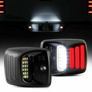 Red Oled Neon Tube Full Led License Plate Light For Toyota Tacoma Tundra Pickup