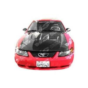 Vis Racing Carbon Fiber Hood Heat Extractor Style For Ford Mustang 2dr 94 98