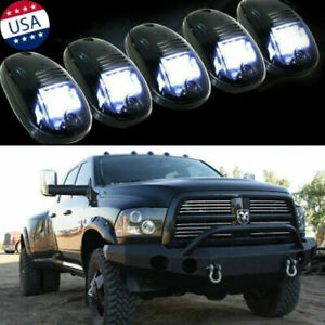 5x Smoked Lens Rooftop Cab Running Lights Led For 1500 2500 3500 Dodge Ram Us