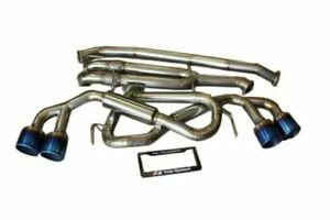 Top Speed Pro 1 Titanium Straight Y pipe Back Exhaust Fits 2009 2020 Nissan Gtr